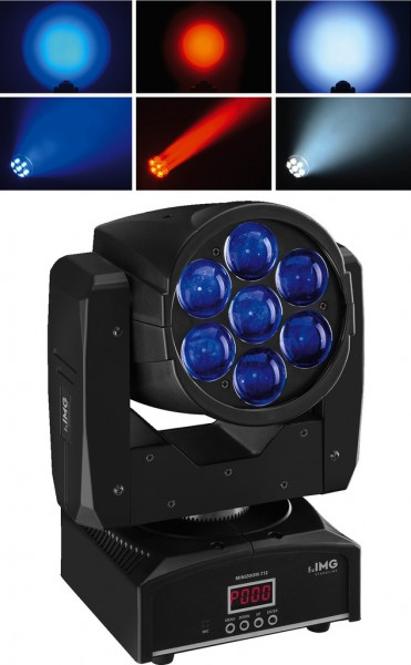 84W DMX & Musik gesteuerter RGBW Moving Head mit Zoom