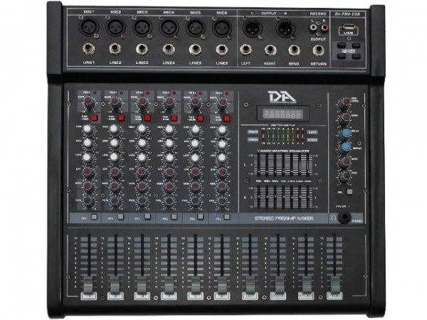 280W 6-Kanal Powermixer mit USB Player