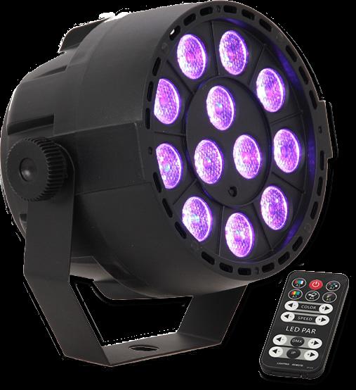 36W LED RGBAW UV PAR Strahler DMX & Musik gesteuerter